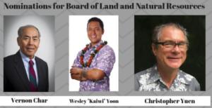 Ige Names Three To Hawaii Land Board