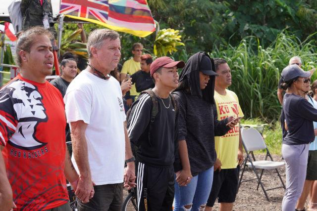 Kahuku Turbines arrive with Senator Gil Riviere on Friday, October 18, 2019.