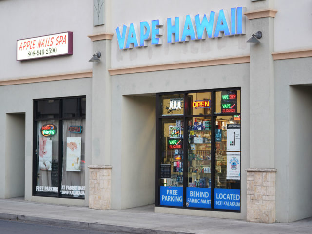 Vape Hawaii located off of Kalakaua Avenue.