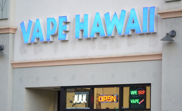 Vape Hawaii located off of Kalakaua Avenue.