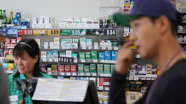 Juul Vape e cigarette material at 7 11 convenience shop at McCully Shopping Center.
