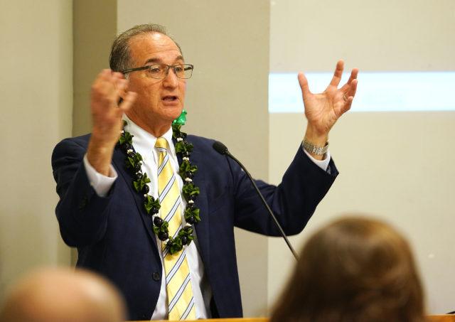Judiciary Mental Illness summit Guest Speaker Steve Leifman held at Aliiolani Hale.