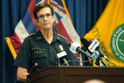 HPD Chief Susan Ballard discusses fatal shooting at HPD Headquarters.