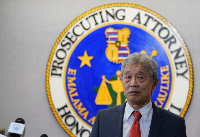 Acting Prosecutor Dwight Nadamoto says he received federal subpoena at a press confrerence.
