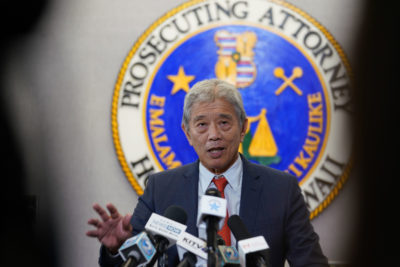 Acting Prosecutor Dwight Nadamoto says he received federal subpoena at a press confrerence today.