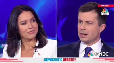 Presidential Debate Puts Gabbard At Odds With Harris, Buttigieg