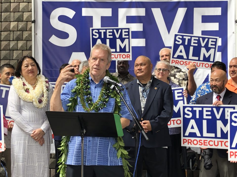 Honolulu Prosecutor: Steve Alm Finishes First, Megan Kau Second