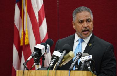 FBI agent Eli Miranda speaks during Pearl Harbor Press Conference.