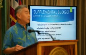 Ige Wants More Money For Education, Roads, Mauna Kea
