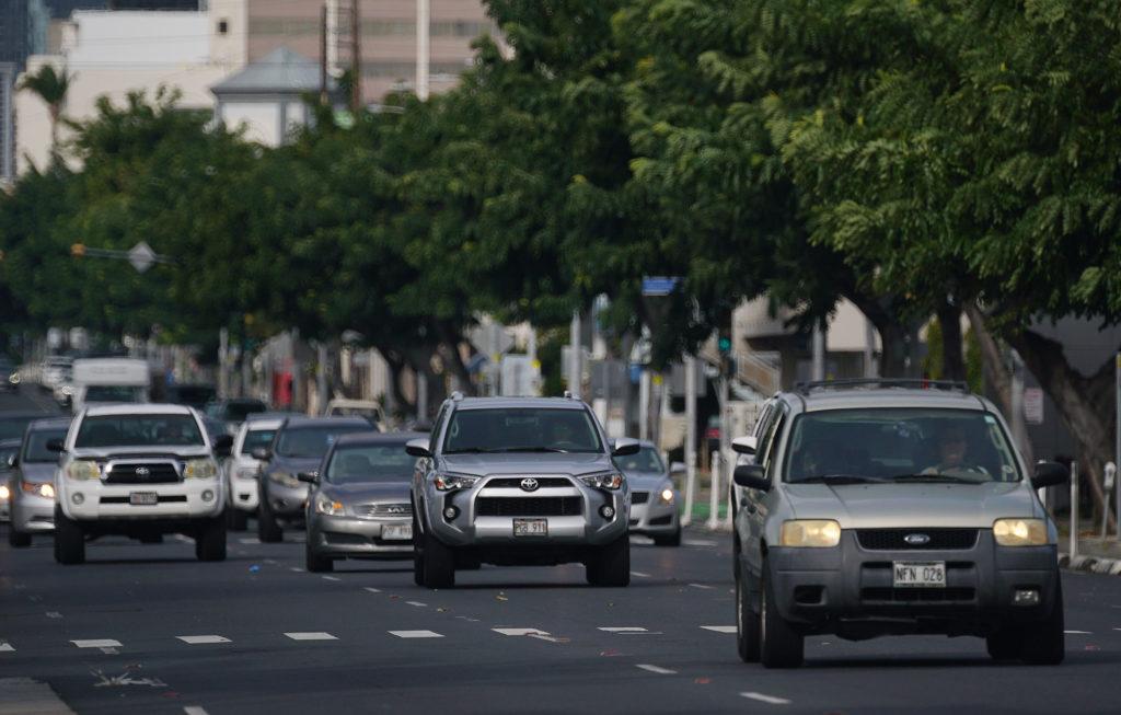 King Street car traffic.
