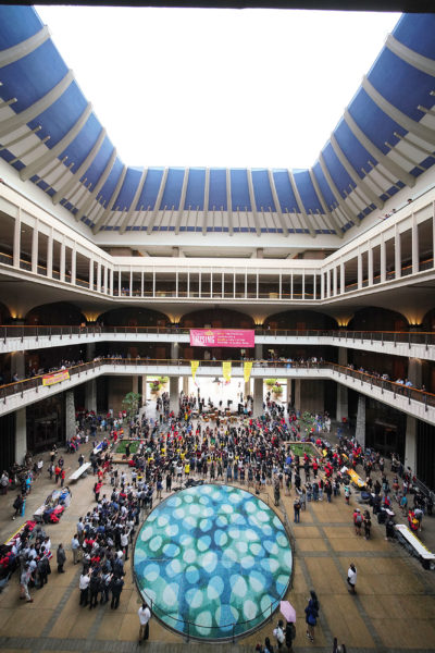 Opening Day of 2020 Legislature demonstration in the rotunda.