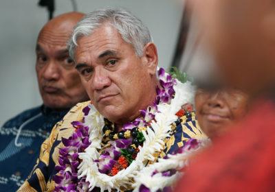 DHHL William Aila during Senate Hawaiian Affairs Committee meeting.