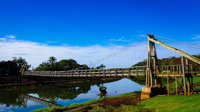Hanapepe Kauai Fault Lines Swinging Bridge River