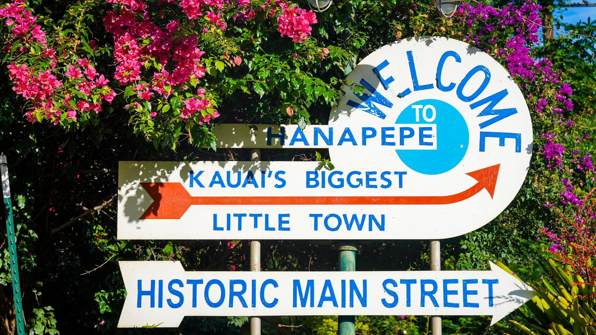 Hanapepe Kauai Fault Lines Welcome Sign