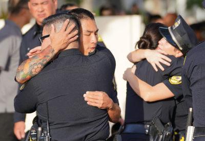 SLIDESHOW: Emotions Run High At Memorial Service For Slain HPD Officer