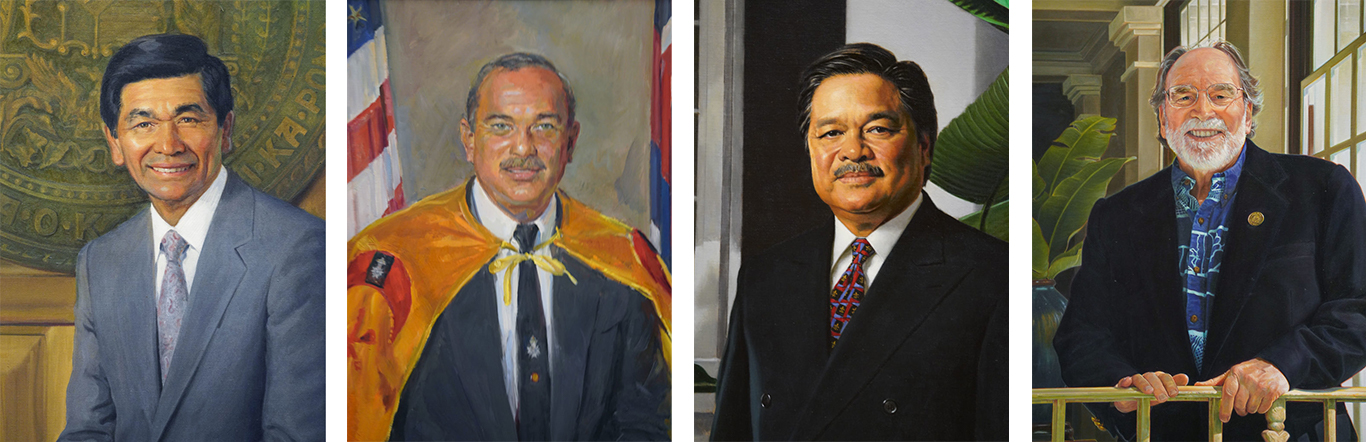 Four Governors Portraits Paintings Capitol
