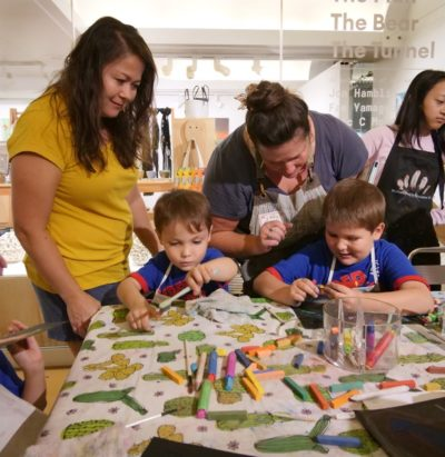 Super Saturday events at the Hawaii State Art Museum offers families a chance to learn about art and create their own arts and crafts.