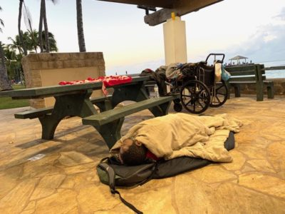 Denby Fawcett: Clearing The Homeless Out Of Kuhio Beach Pavilions
