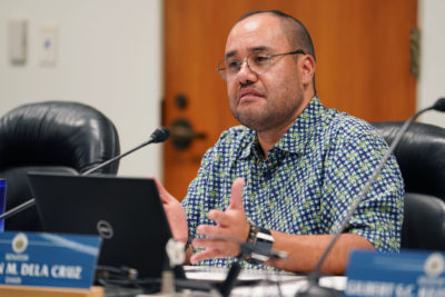 Ways and Means Chair Donovan M. Dela Cruz during hearing on funding emergency appropriations in response to future COVID-19 Coronavirus health concerns.