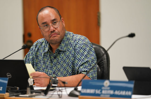 Ways and Means Chair Donovan M. Dela Cruz during hearing on funding emergency appropriations in response to future COVID-19 Coronavirus health concerns in Hawaii.