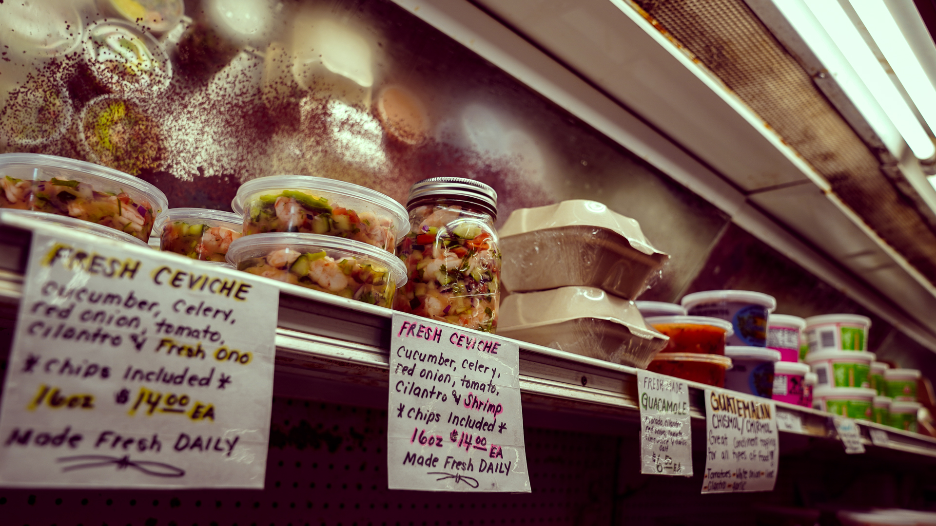 Kauai Kukuiula Mom and Pop Market Ceviche Shelf