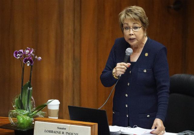 Senator Lorraine Inouye debate on carbon tax in the Senate.