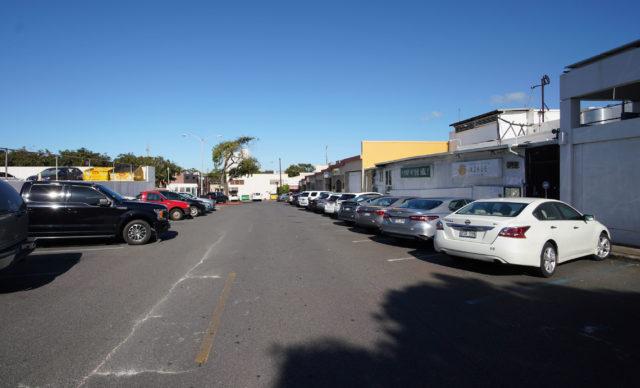 Kaimuki Municipal Metered parking lot.