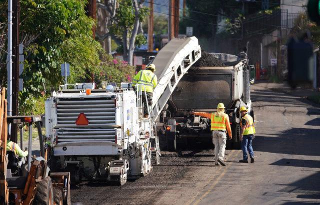 Sierra Drive Road construction.