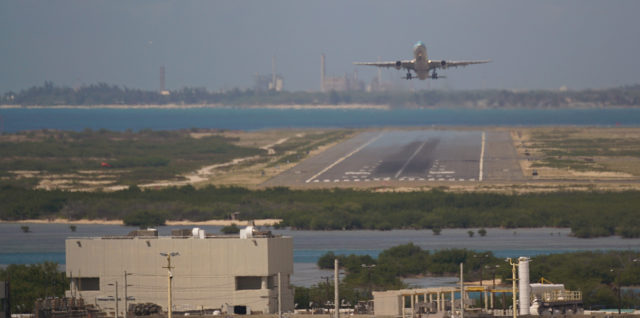 Korean Airlines aircraft takes off from Daniel K Inouye International Airport.