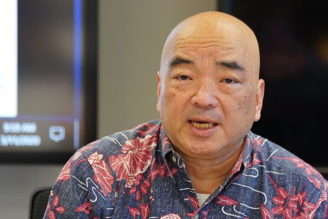 Curt Kawafuchi Chair on Council on Revenues during meeting.