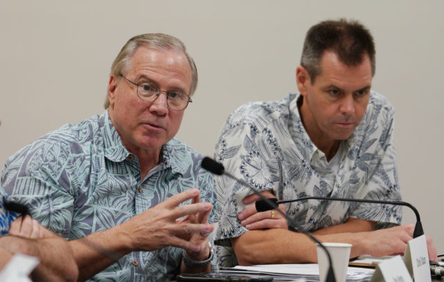 Chris Tatum, CEO and President of the Hawaii Visitors Authority speaks during the COVID-19 Conavirus Committee meeting held at the Legislature.