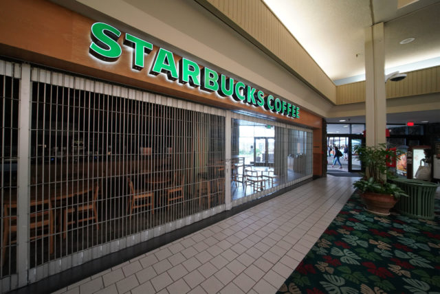 Starbucks Coffee Kahala Mall closed.