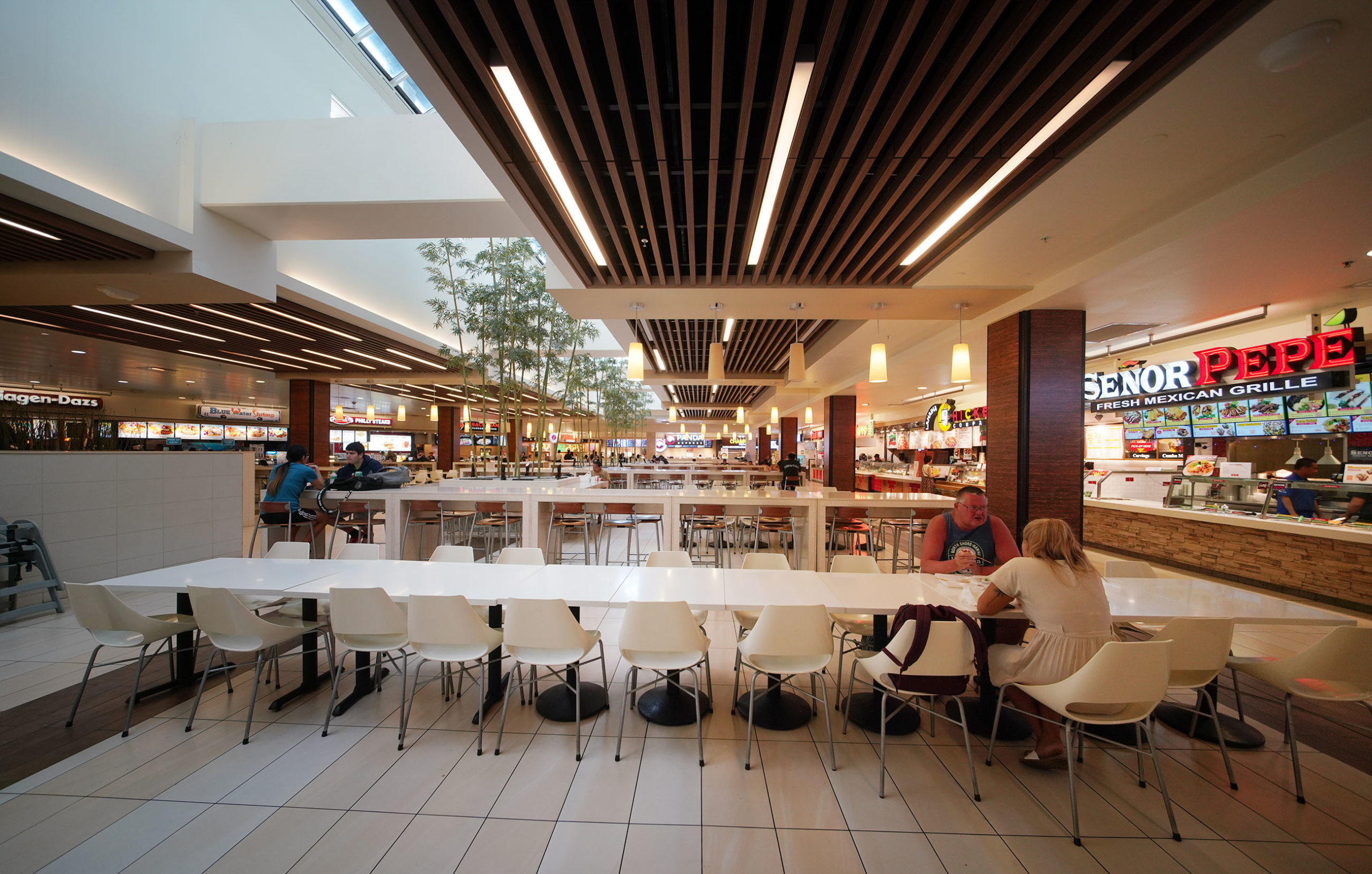 Ala Moana Shopping Center Food Court Dining Area Coronavirus Honolulu Civil Beat