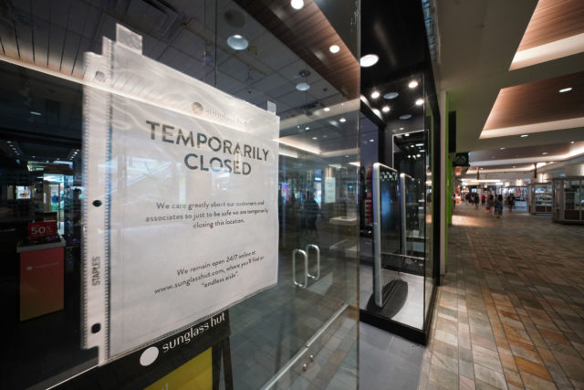 Ala Moana Shopping Center. Sunglass Hut was temporarily closed due to Coronavirus concerns on March 18, 2020.