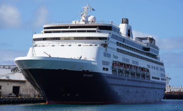 Cruise ship Maasdam arrived in Honolulu Harbor amid Coronavirus concerns. No passengers were allowed to disembark.
