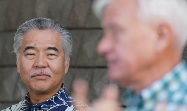 Governor David Ige announced mandatory 14 day self quarantine on arriving visitors to Hawaii today at the Capitol press conference.