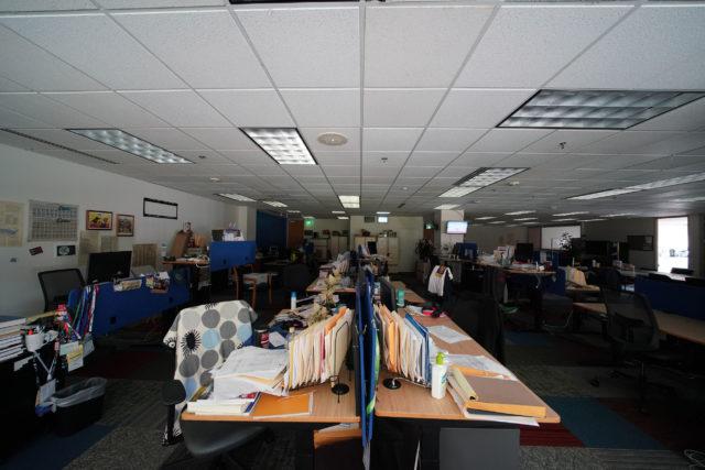 Honolulu Civil Beat Empty office due to Coronavirus concerns.