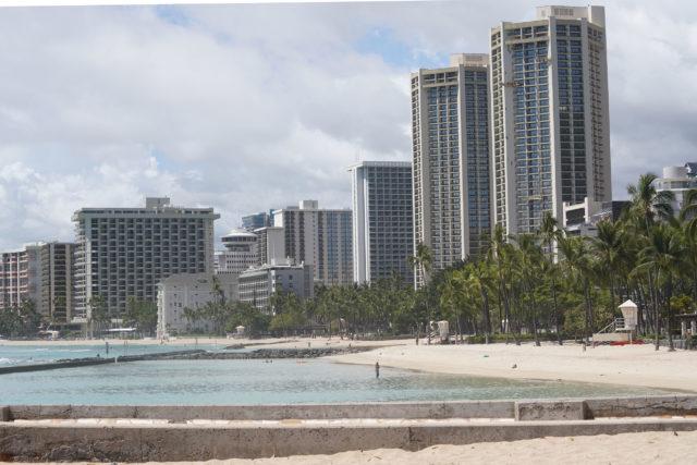 Waikiki Beach during 2020 Coronavirus COVID19.