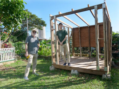 Coronavirus Won't Stop Father And Son From Finishing Community Project