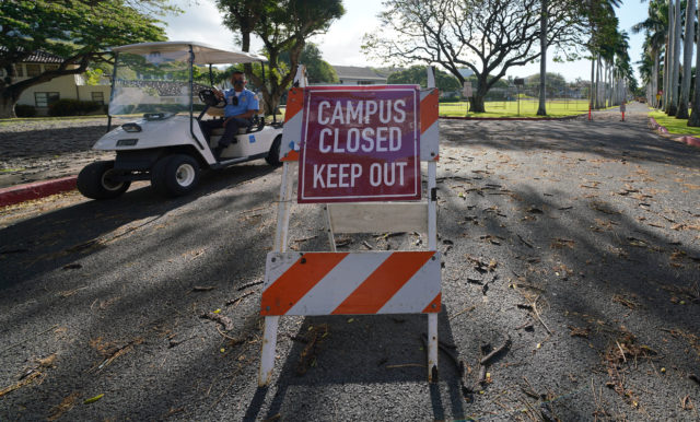 Punahou School. Campus Closed. April 30, 2020