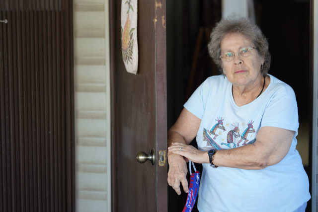 Margaret Proffitt Pearl city residence. Margaret's husband is in a care home during the Coronavirus pandemic. May 5, 2020