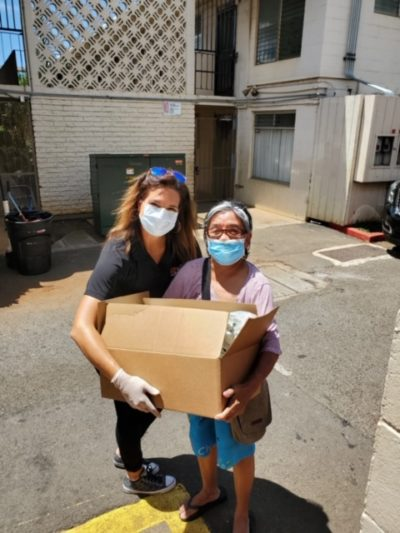 Integrated Facility Services Hawaii, a maintenance and site management company, donated 100 care packages to residents in their buildings.