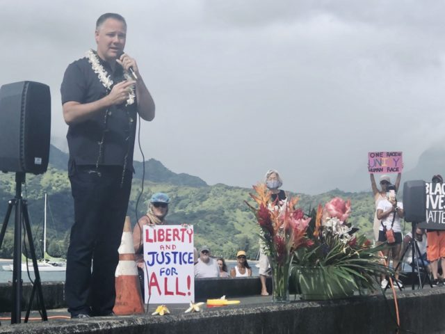 Hanalei, Kauai, George Floyd, Black Lives Matter, Paddle Out, Protest, Police Chief Todd Raybuck, Kauai Police Department