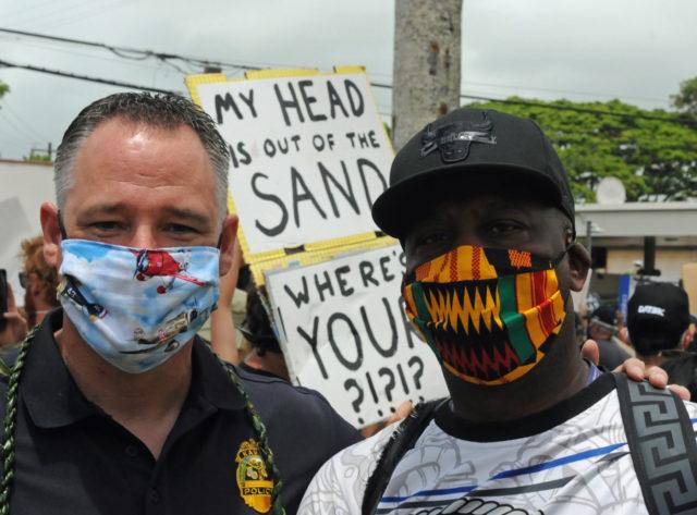 Rod Green, Todd Raybuck, Kauai Police, George Floyd, Racism, Protest, Kauai, Crime