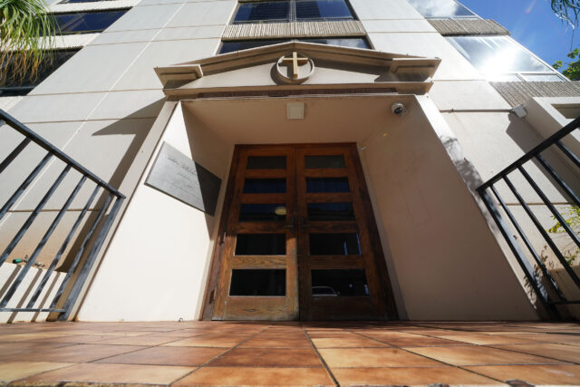1184 Bishop Street, Catholic Diocese of Hawaii entrance.