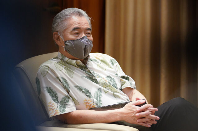 Governor David Ige during press conference announcing a spike of 41 new cases of COVID-19. July 7, 2020