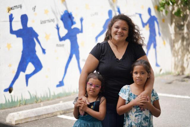 Angelique Solomon with daughters left, Mialani and Makanalani Solomon.