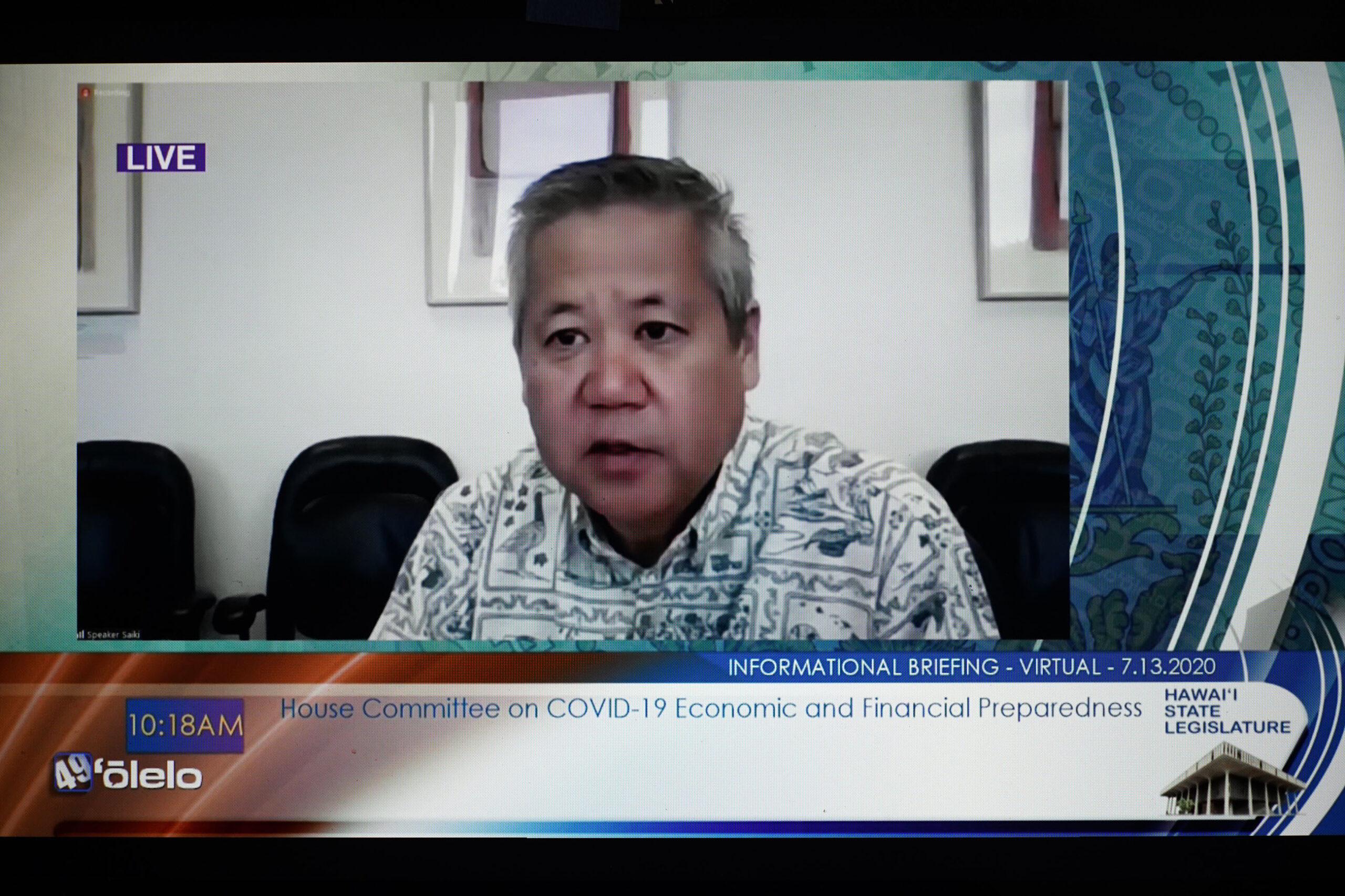 House Committee on COVID19. Speaker Scott Saiki mediates meeting on Olelo.