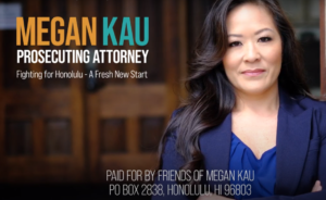 Megan Kau Promises To 'Prosecute All Crimes' In New TV Ad