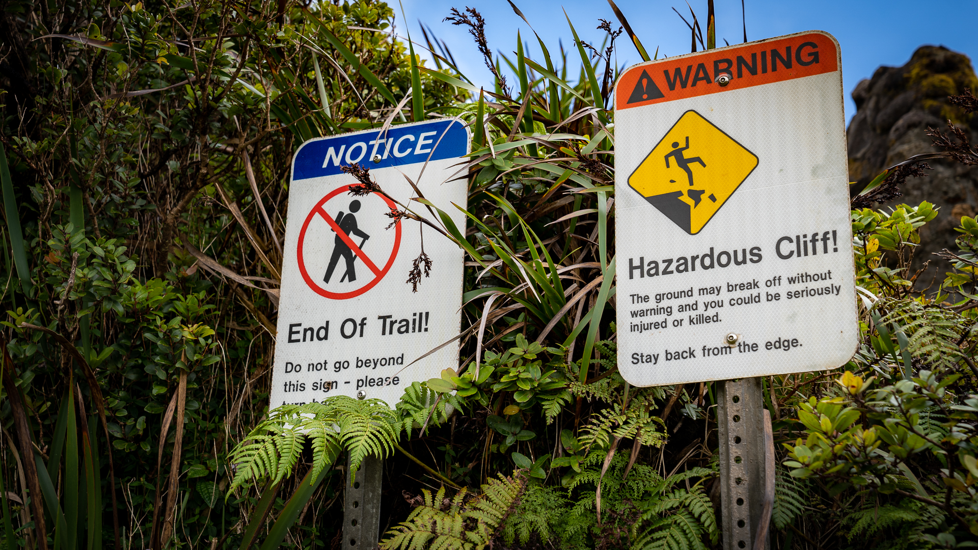 Oahu Watersheds Poamoho Wahiawa Summit Signs